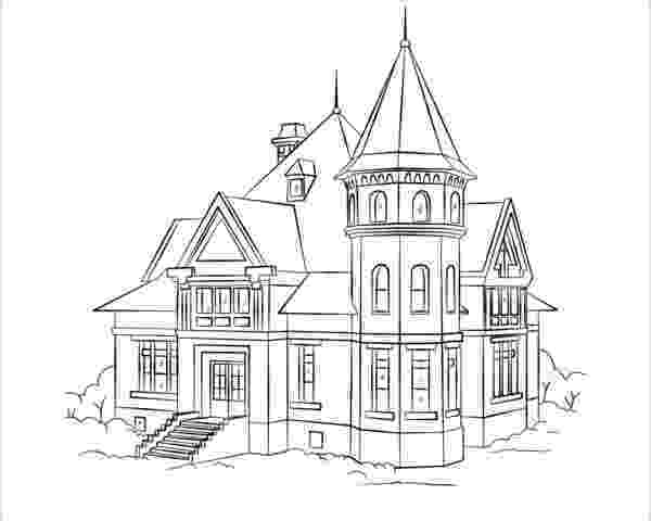 colouring pages of house printable haunted house coloring pages for kids cool2bkids colouring house of pages