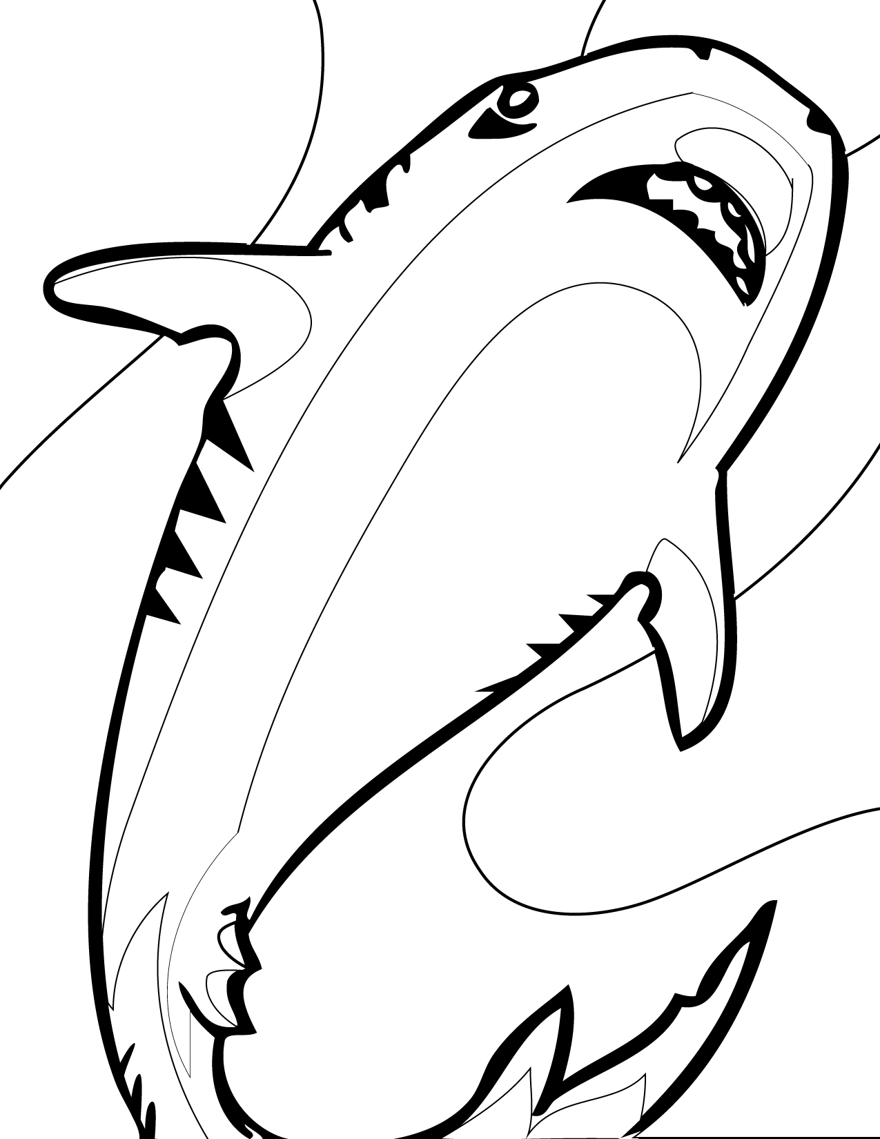 colouring pages of sharks free printable shark coloring pages for kids of sharks colouring pages