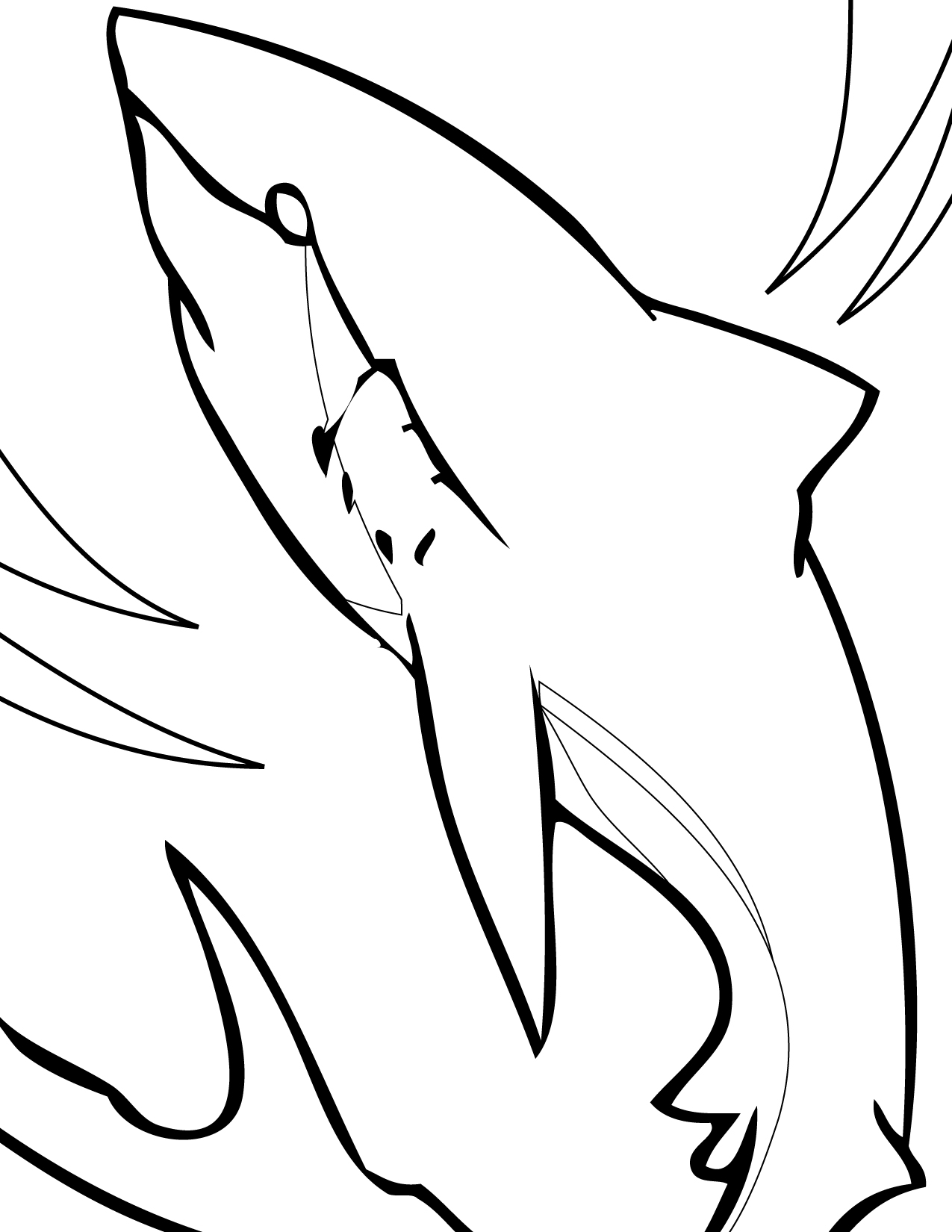 colouring pages of sharks free printable shark coloring pages for kids sharks of colouring pages