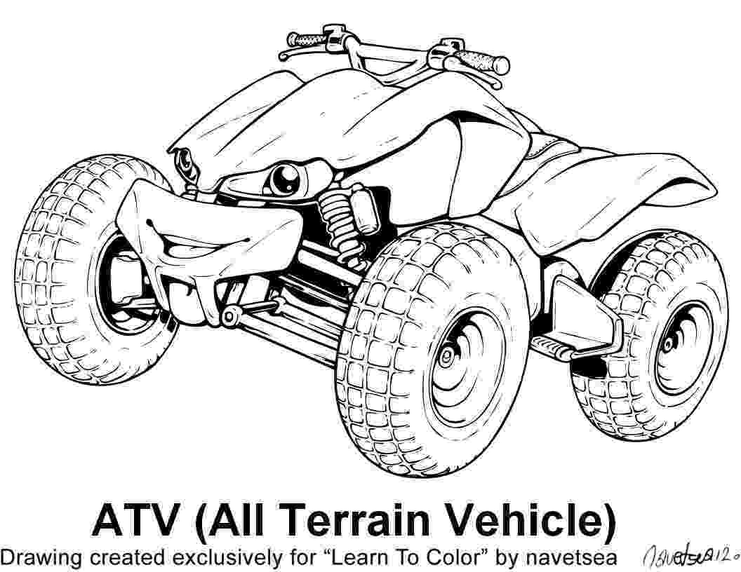 colouring pages quad bikes atvs drawing at getdrawingscom free for personal use pages bikes colouring quad