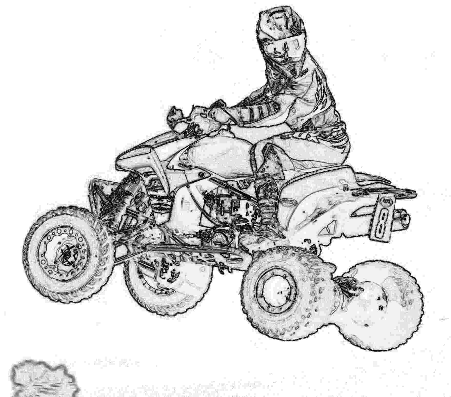 colouring pages quad bikes four wheeler clipart group brilliant clip art geekchicpro quad colouring pages bikes