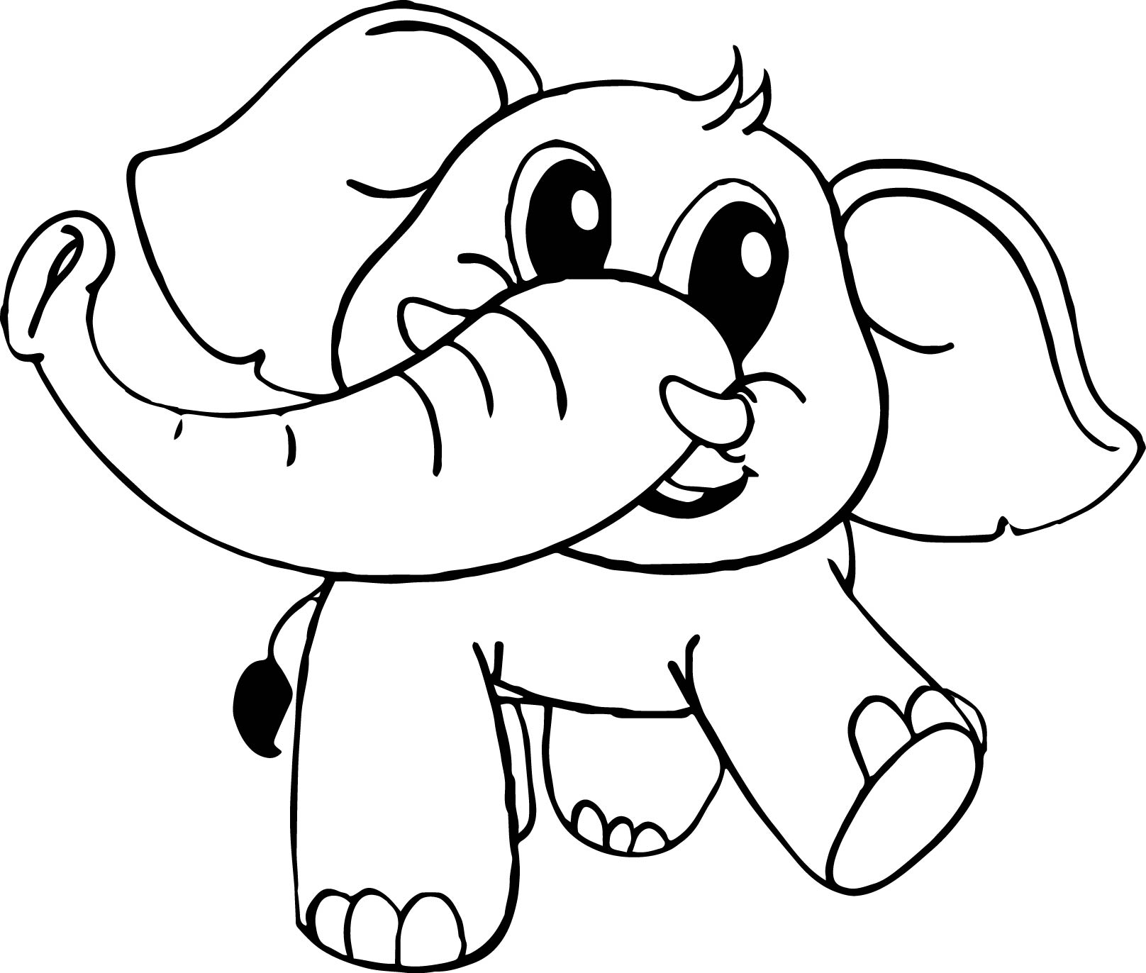 colouring picture of an elephant baby cartoon elephant coloring page wecoloringpagecom colouring picture an of elephant