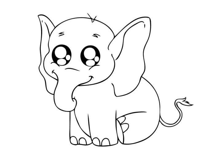 colouring picture of an elephant baby elephant coloring pages animal elephant an of colouring picture