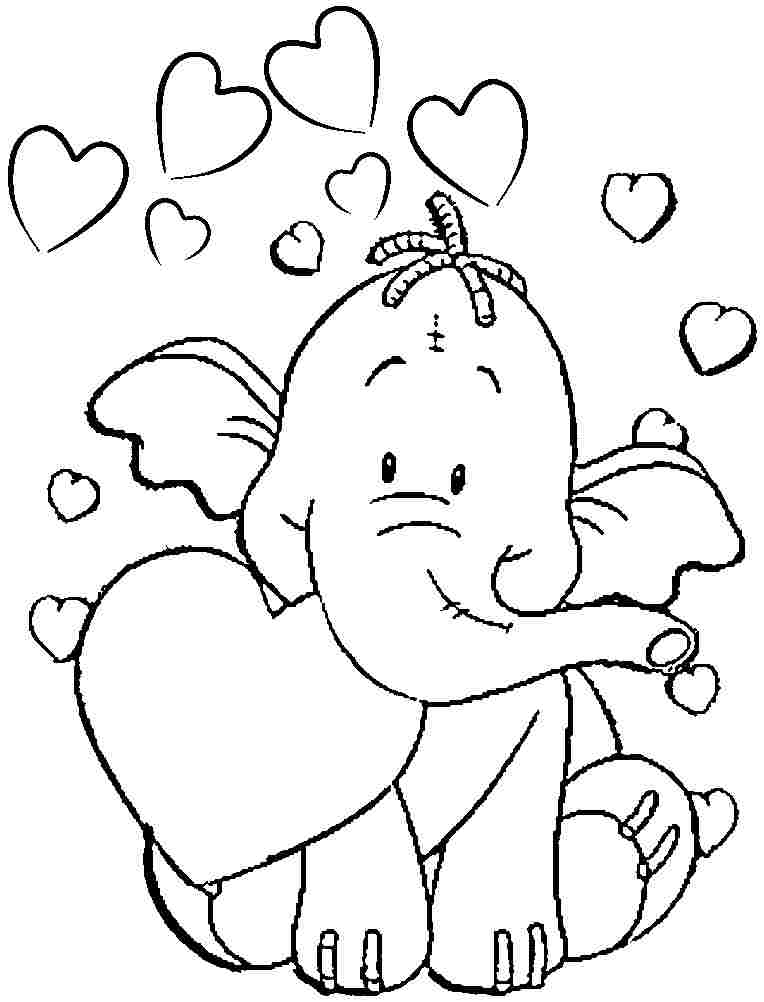 colouring picture of an elephant elephant coloring pages for kids printable for free elephant colouring of an picture