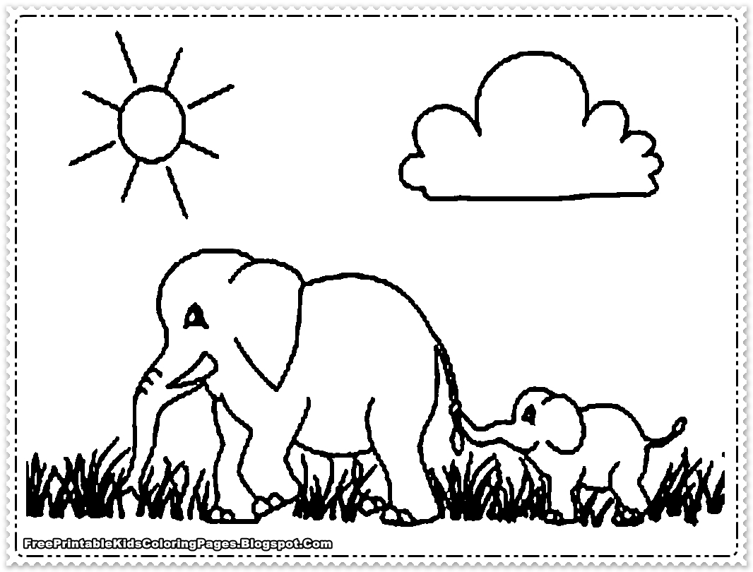 colouring picture of an elephant elephant coloring pages printable free printable kids colouring picture elephant an of