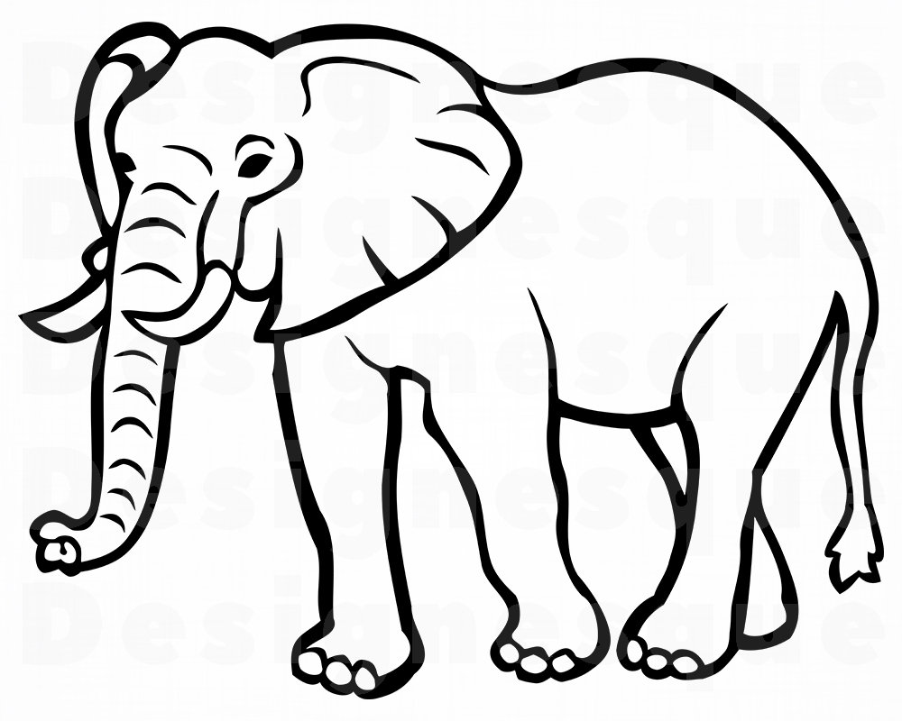 colouring picture of an elephant free printable elephant coloring pages for kids colouring an picture elephant of