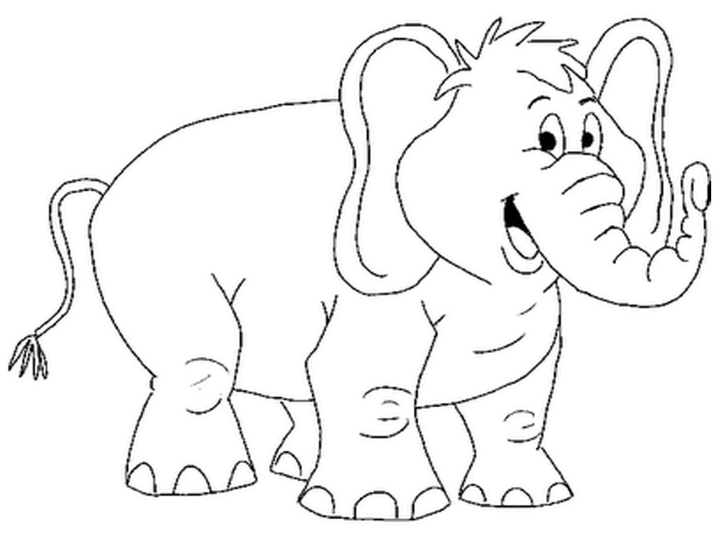 colouring picture of an elephant happy cartoon elephant coloring page free printable picture elephant of an colouring