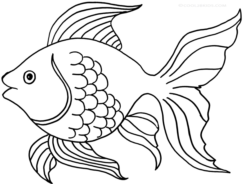 colouring picture of fish printable goldfish coloring pages for kids cool2bkids colouring fish picture of