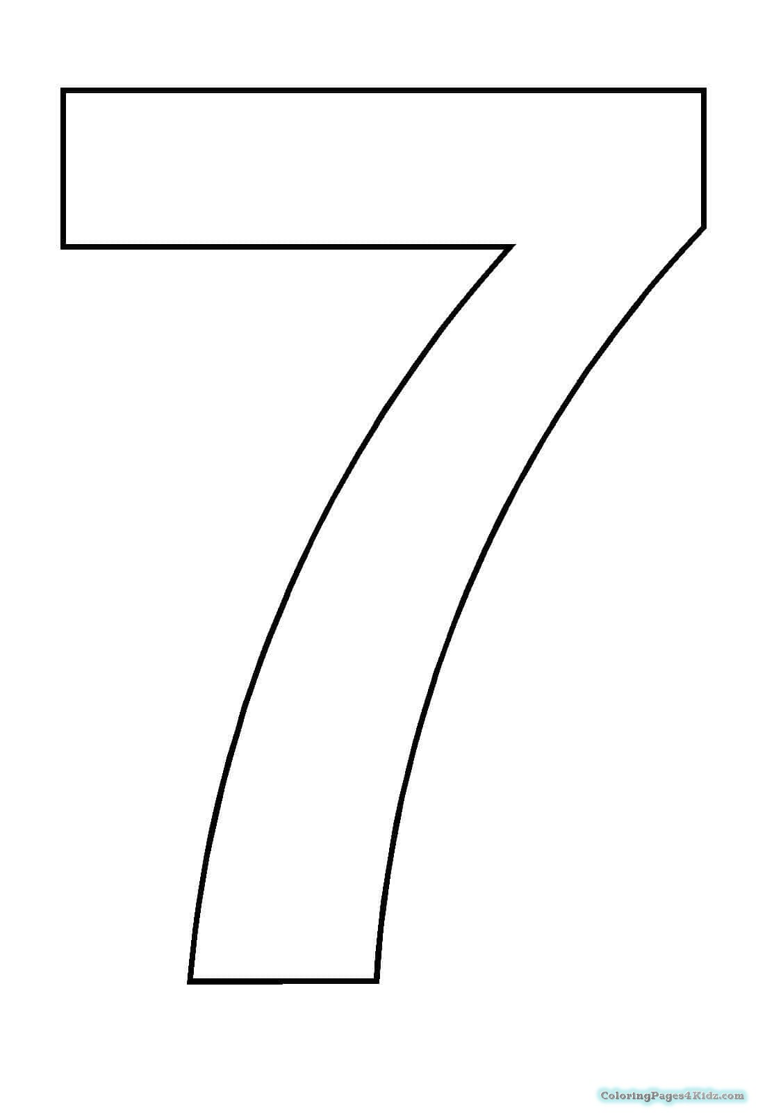 colouring picture of number 7 coloring pages of number 7 coloring pages 7 picture colouring number of