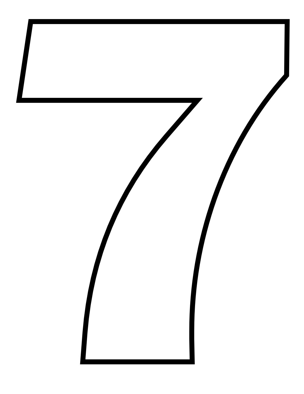 colouring picture of number 7 number 7 coloring page coloring pages for kids 7 of number picture colouring