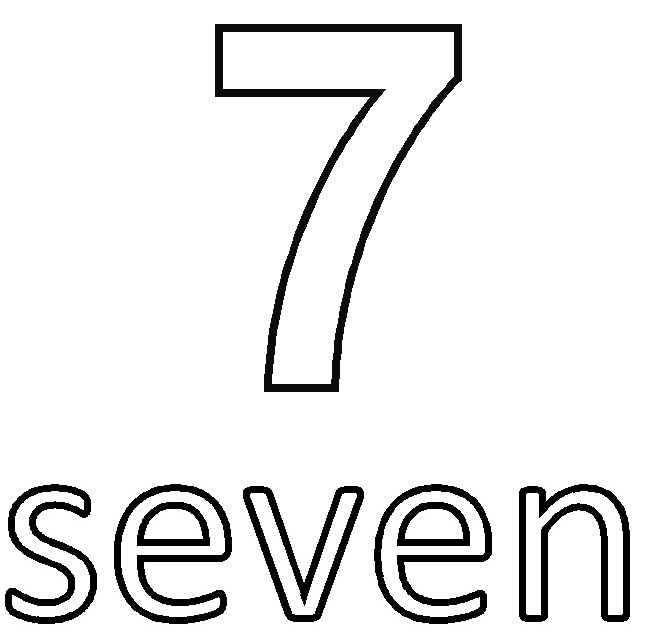 colouring picture of number 7 number 7 coloring page getcoloringpagescom colouring of picture 7 number