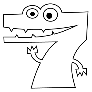 colouring picture of number 7 number 7 coloring page getcoloringpagescom number colouring 7 of picture