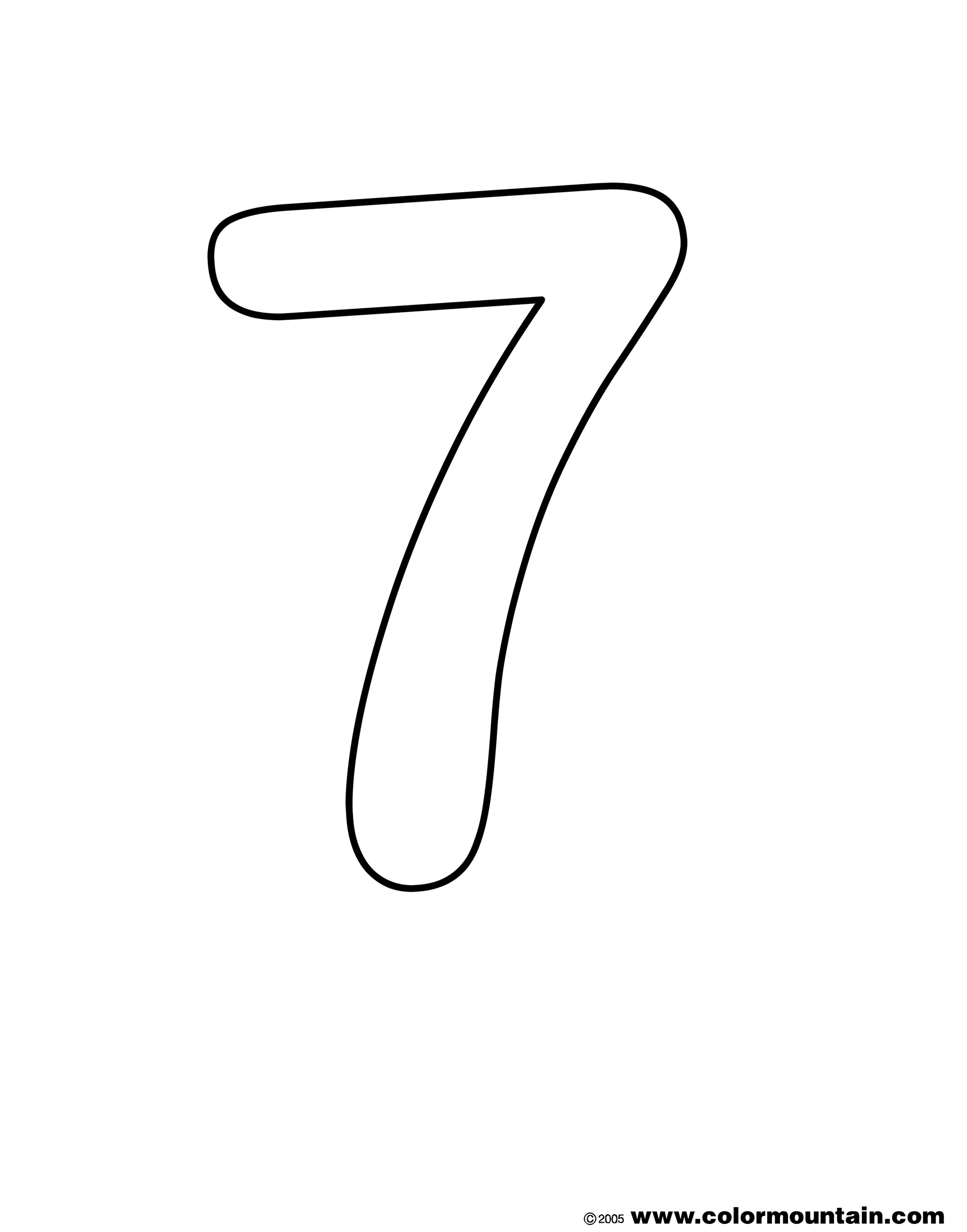 colouring picture of number 7 number 7 coloring page getcoloringpagescom of picture number 7 colouring