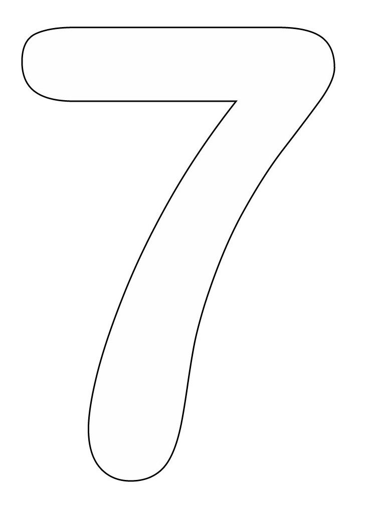 colouring picture of number 7 number 7 coloring pages to print gka pinterest of picture 7 number colouring