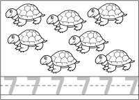 colouring picture of number 7 number seven learning to write simple handwriting number 7 colouring picture number of