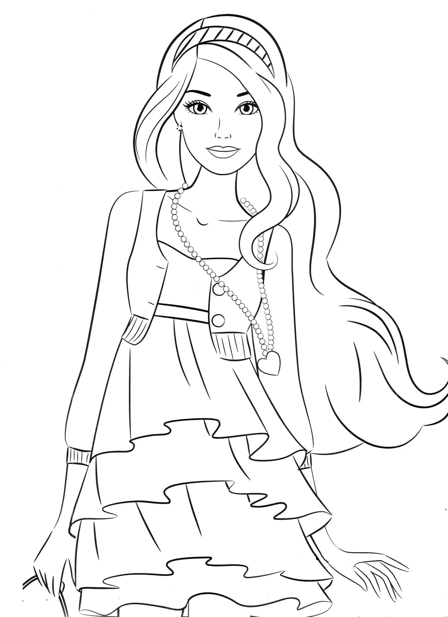 colouring pictures girls digi stamp serenade pretty girl coloring page big by girls pictures colouring