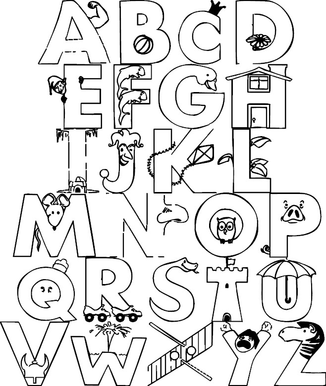colouring pictures of alphabets a z alphabet coloring pages download and print for free alphabets colouring of pictures