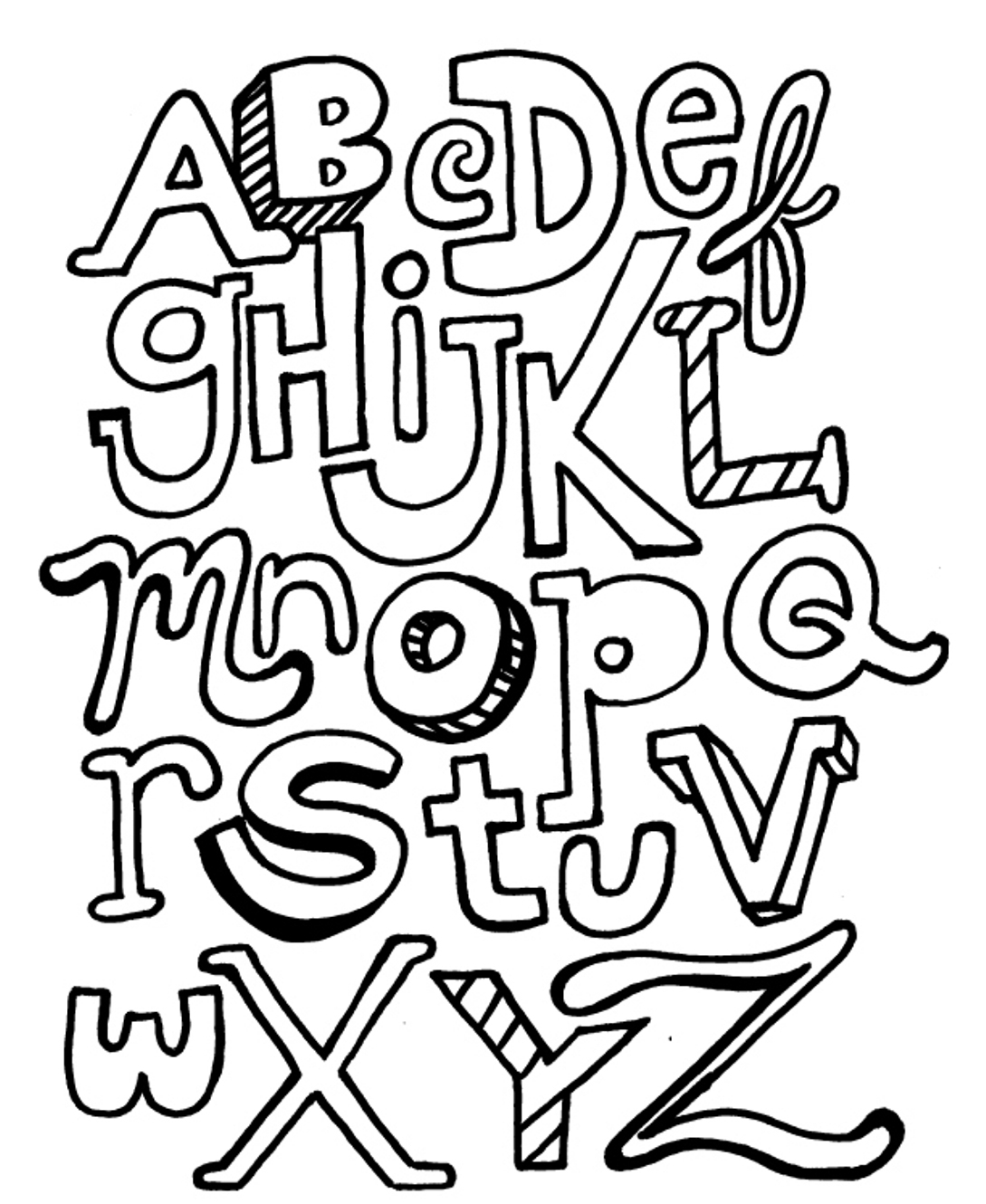 colouring pictures of alphabets block letter coloring pages at getcoloringscom free alphabets of colouring pictures