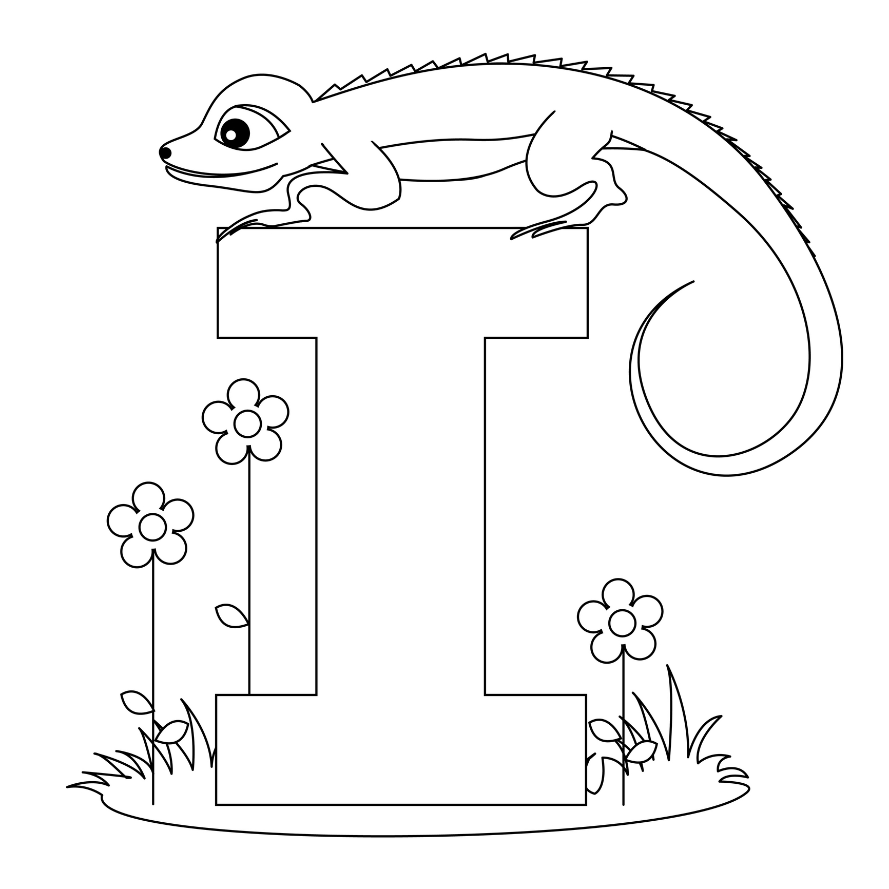 colouring pictures of alphabets printable alphabet worksheets letter i for iguana for of colouring alphabets pictures