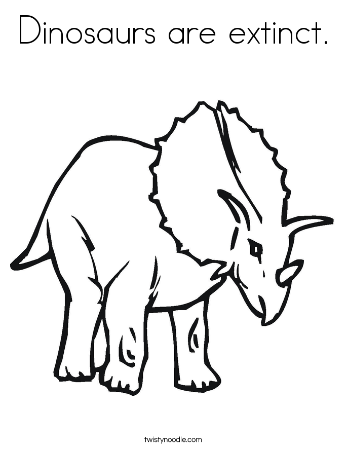 colouring pictures of extinct animals dinosaurs are extinct coloring page twisty noodle animals pictures colouring extinct of