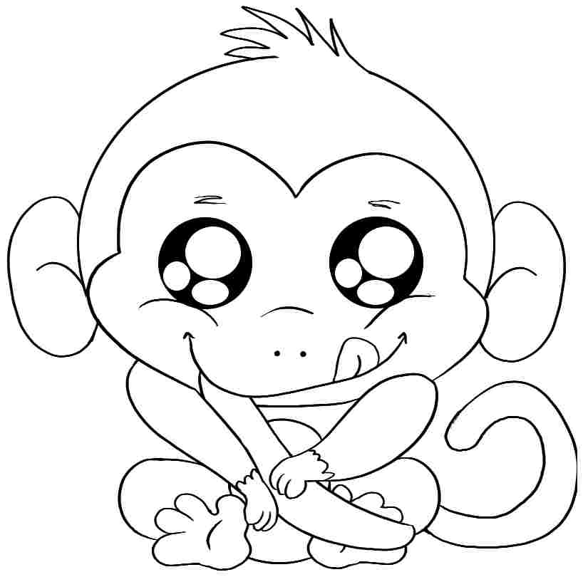 colouring pictures of monkeys free printable monkey coloring pages for kids colouring monkeys pictures of