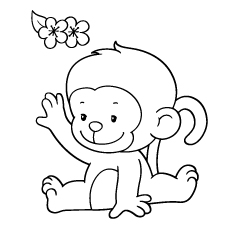 colouring pictures of monkeys monkey template animal templates free premium templates monkeys pictures colouring of
