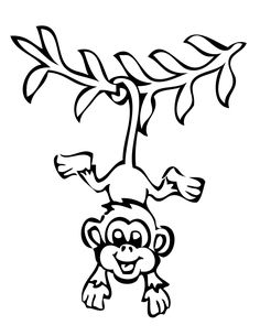 colouring pictures of monkeys smiling monkey coloring page h m coloring pages colouring of pictures monkeys