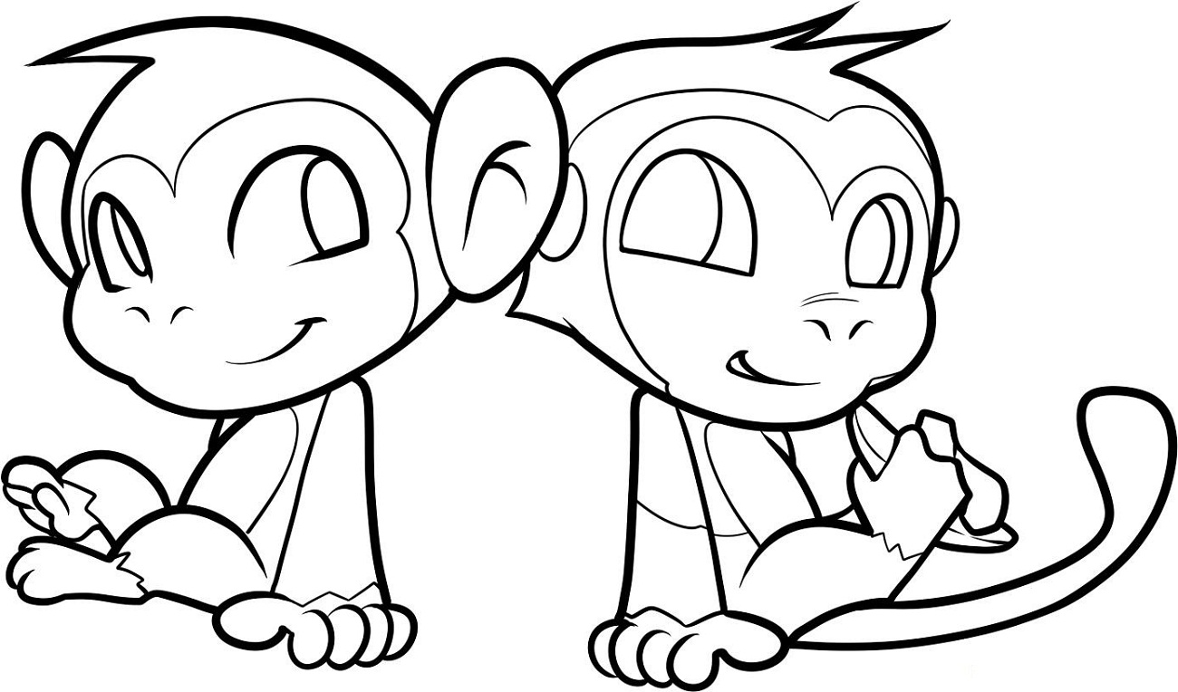 colouring pictures of monkeys top 25 free printable monkey coloring pages for kids pictures of colouring monkeys