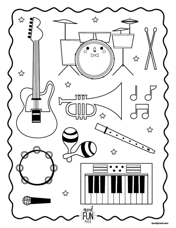 colouring pictures of musical instruments musical instruments coloring pages bestofcoloringcom pictures instruments colouring of musical