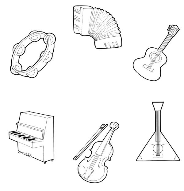 colouring pictures of musical instruments musical instruments coloring pages to download and print musical pictures of instruments colouring