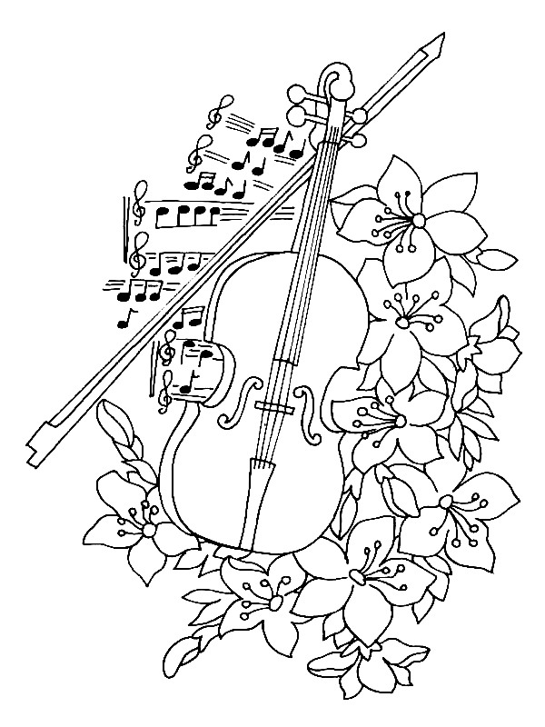 colouring pictures of musical instruments string instrument coloring pages string instrument of musical pictures colouring instruments