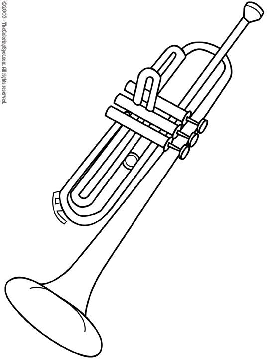 colouring pictures of musical instruments trumpet coloring pages kidsuki colouring instruments pictures musical of