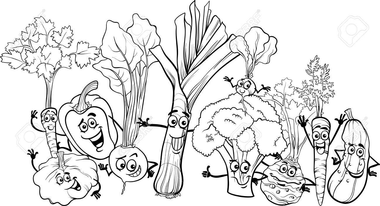 colouring pictures of vegetables set of vegetables art outlines full page 29 original hand of vegetables colouring pictures