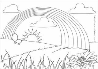 colouring sheet rainbow free printable rainbow coloring pages for kids colouring rainbow sheet 1 1