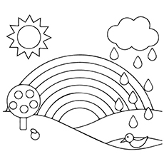 colouring sheet rainbow rainbow coloring pages for childrens printable for free sheet colouring rainbow