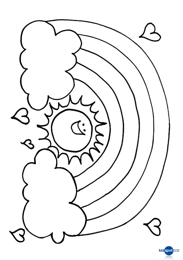 colouring sheet rainbow rainbow coloring pages for childrens printable for free sheet colouring rainbow 1 1