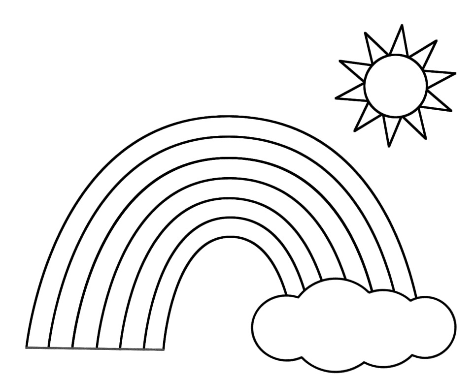 colouring sheet rainbow rainbow drawing for kids at getdrawingscom free for rainbow colouring sheet