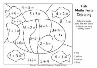 colouring sheets year 1 math facts coloring page color by sum fun math colouring 1 sheets year