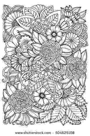 colouring therapy patterns black and white flower pattern for coloring doodle floral colouring patterns therapy