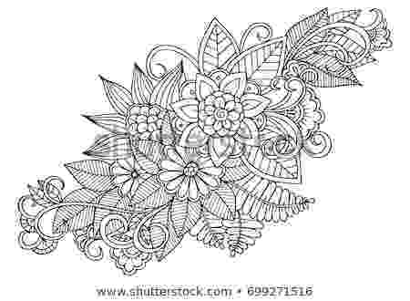 colouring therapy patterns black white flower pattern adult coloring stock vector colouring patterns therapy