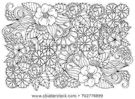 colouring therapy patterns black white flower pattern adult coloring stock vector colouring therapy patterns