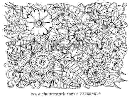 colouring therapy patterns black white flower pattern adult coloring stock vector colouring therapy patterns 1 1