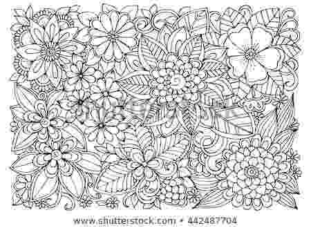 colouring therapy patterns black white flower pattern coloring doodle stock vector colouring therapy patterns