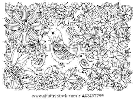 colouring therapy patterns black white flower pattern ducks coloring stock vector colouring therapy patterns