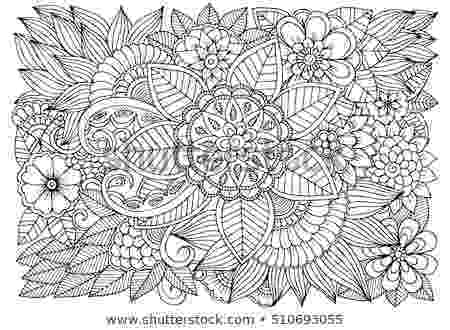 colouring therapy patterns coloring book adult summer flowers vector stock vector patterns colouring therapy