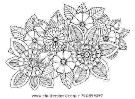 colouring therapy patterns floral design elements doodle flowers zentangle stock colouring patterns therapy