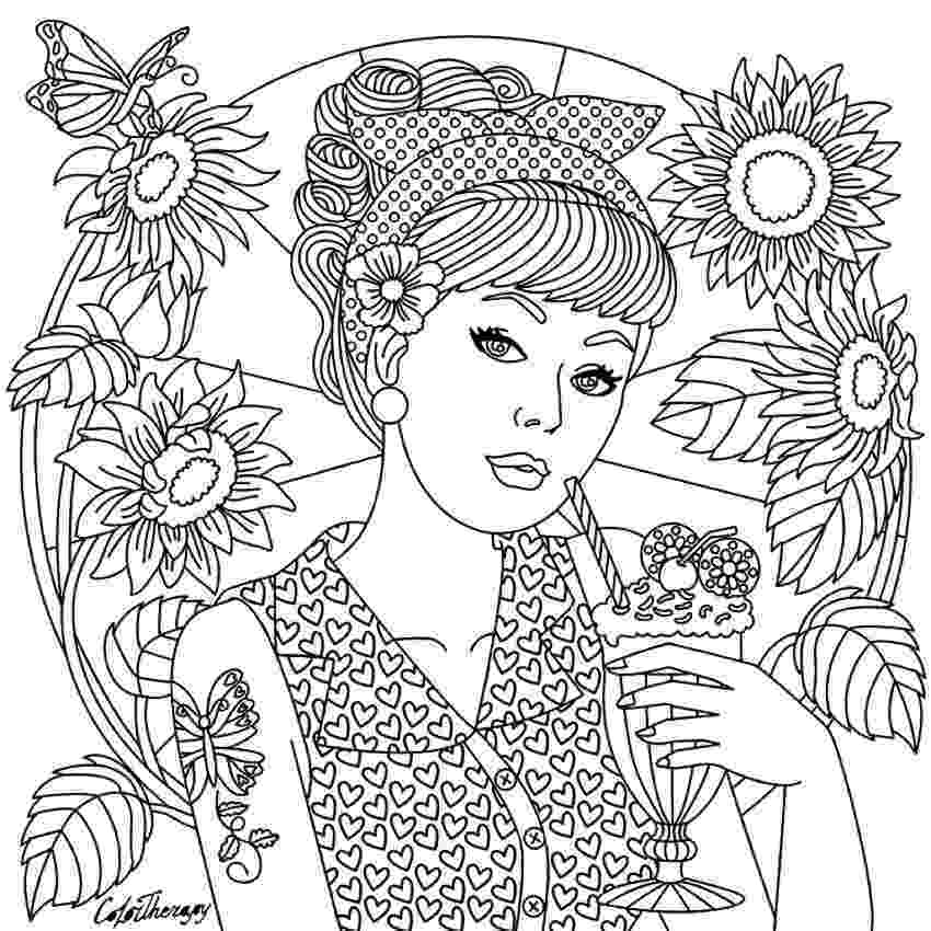 colouring therapy patterns girl on color therapy app coloring pages coloring pages therapy patterns colouring