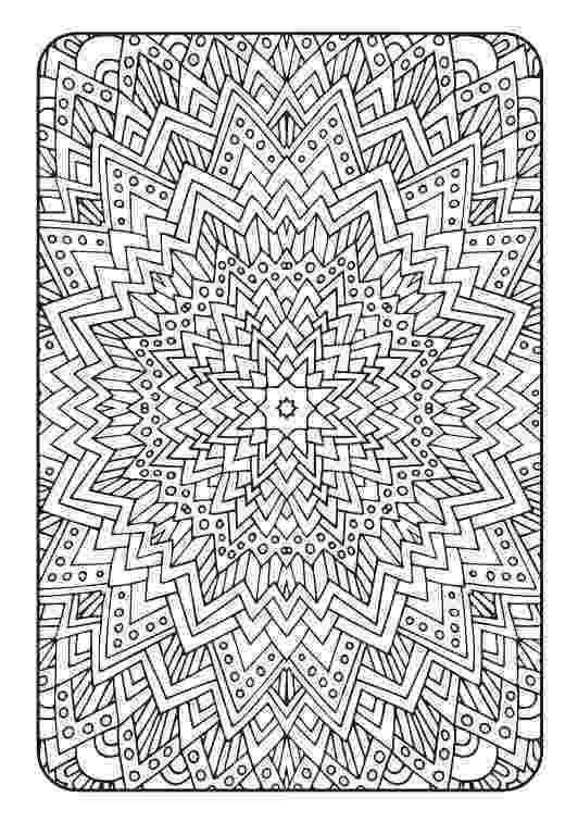 colouring therapy patterns mandala adult coloring page printable pdf от colouring patterns therapy