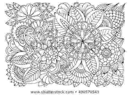 colouring therapy patterns vector coloring page floral pattern doodle stock vector colouring therapy patterns