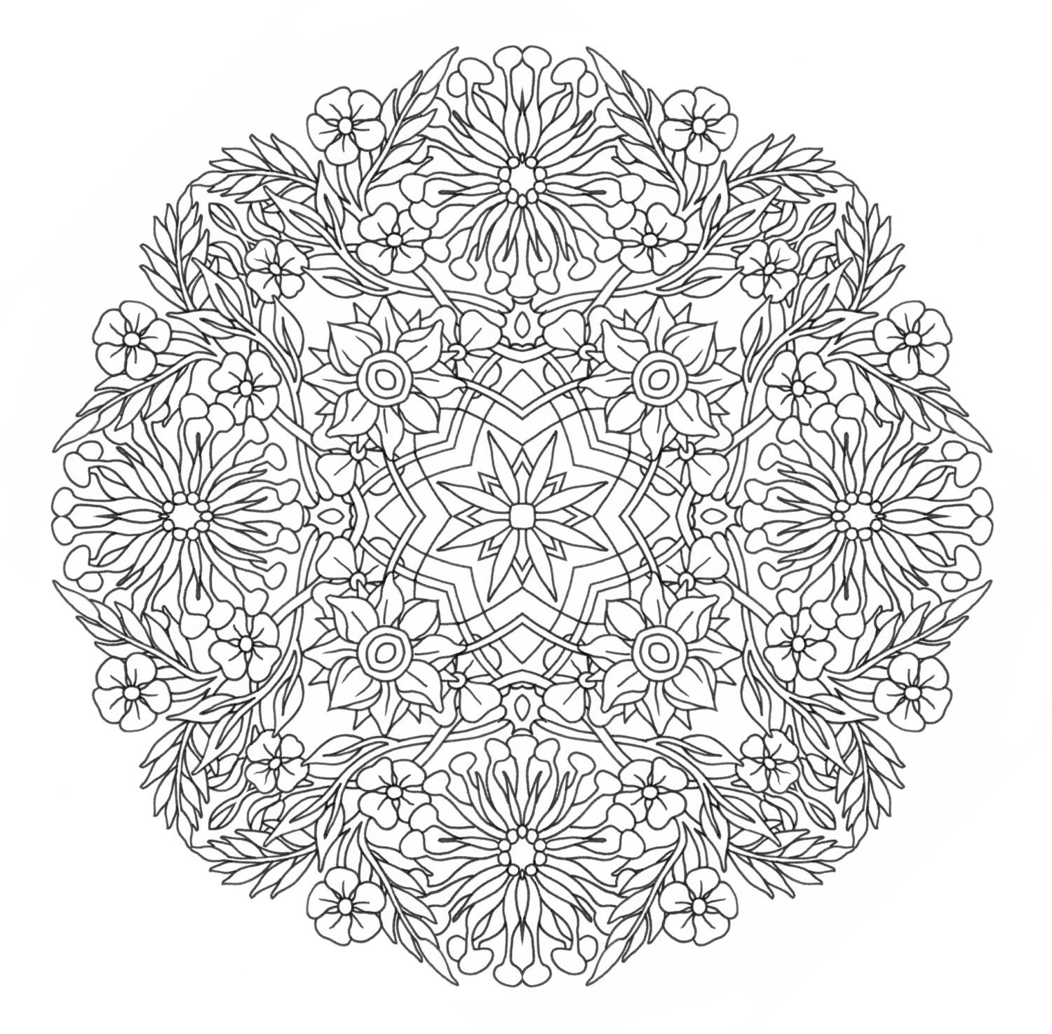 complicated coloring sheets Καλειδοσκόπιο mandala sheets coloring complicated